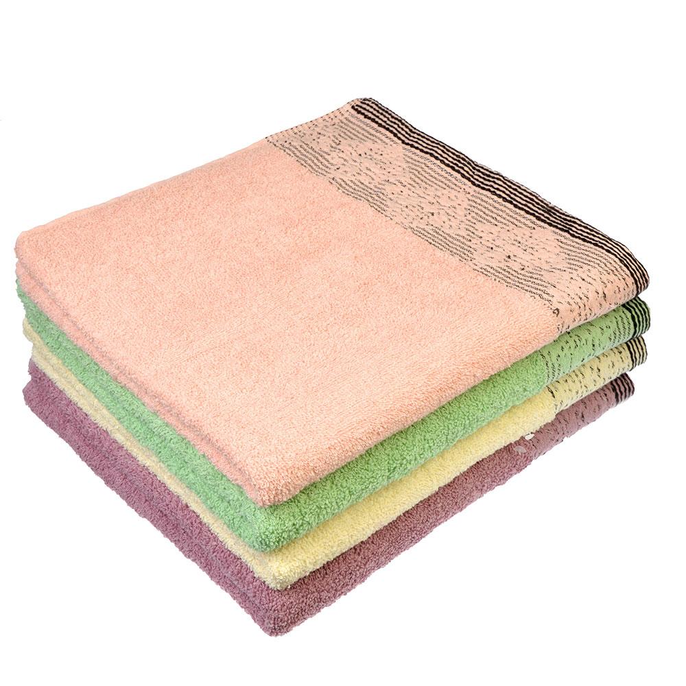 """Полотенце банное махровое, хлопок, 70х136см, 4 цвета, """"Грация"""""""