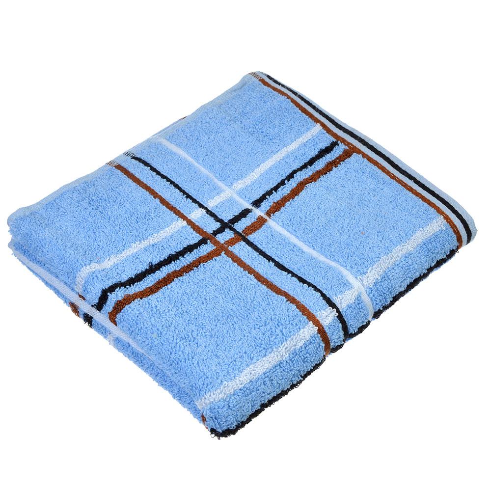 """Полотенце для лица махровое, хлопок, 45х90см, 4 цвета, """"Клетка"""""""