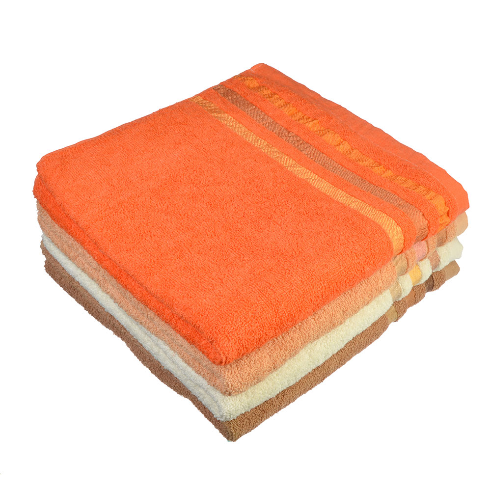 """Полотенце банное махровое, хлопок, 66х132см, 4 цвета, """"Линия"""""""