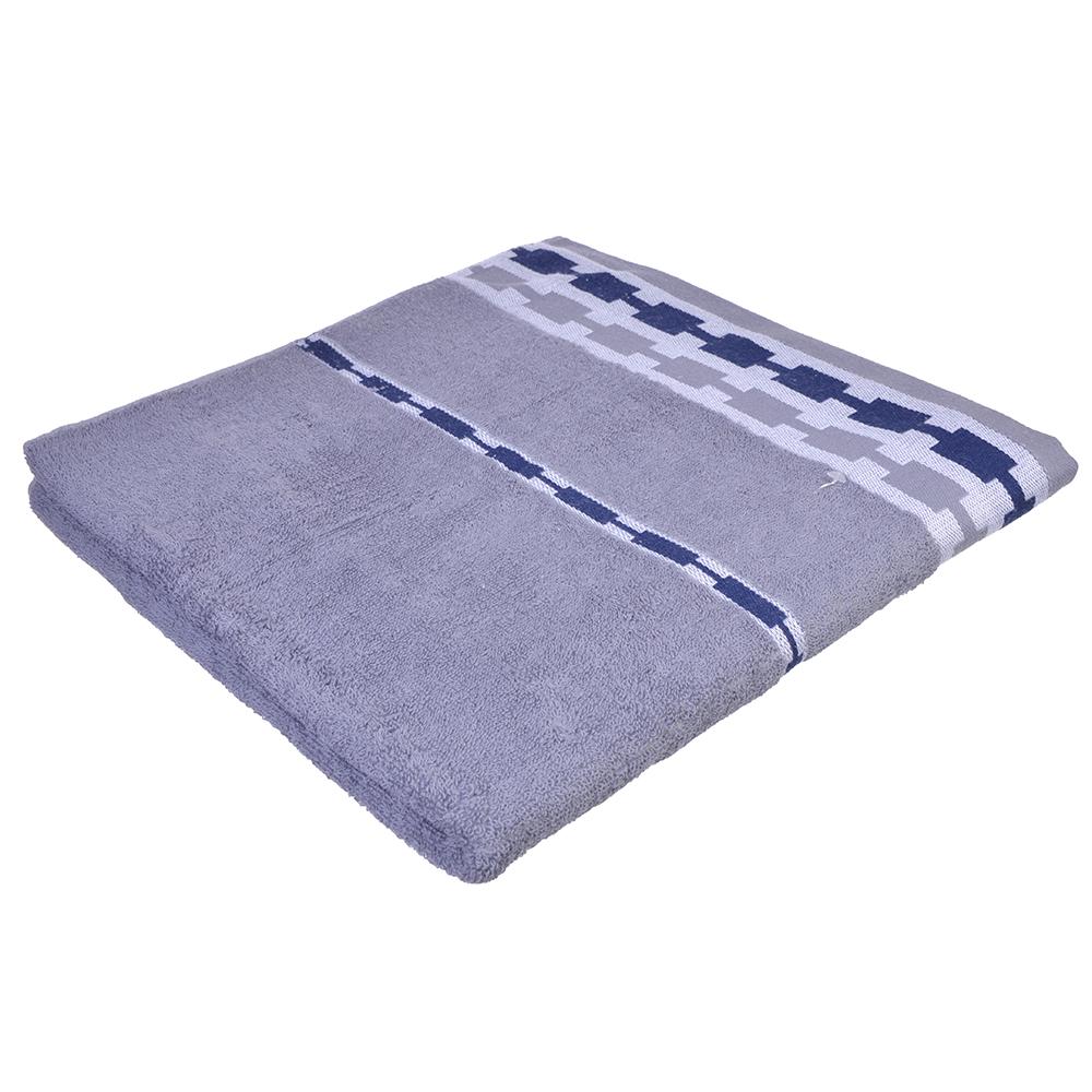 Полотенце банное махровое, хлопок, 69х138см, 4 цвета