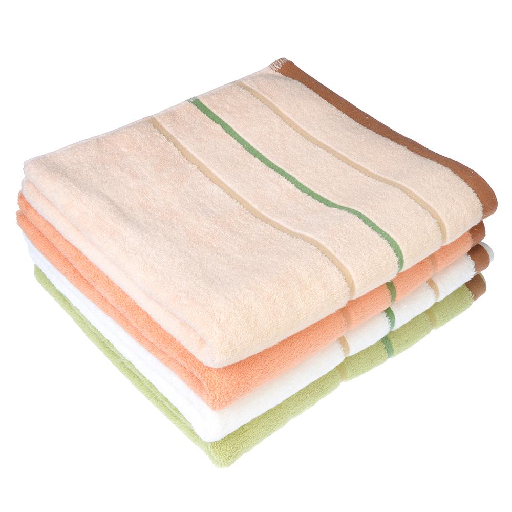 Полотенце банное махровое, хлопок, 68х140см, 4 цвета