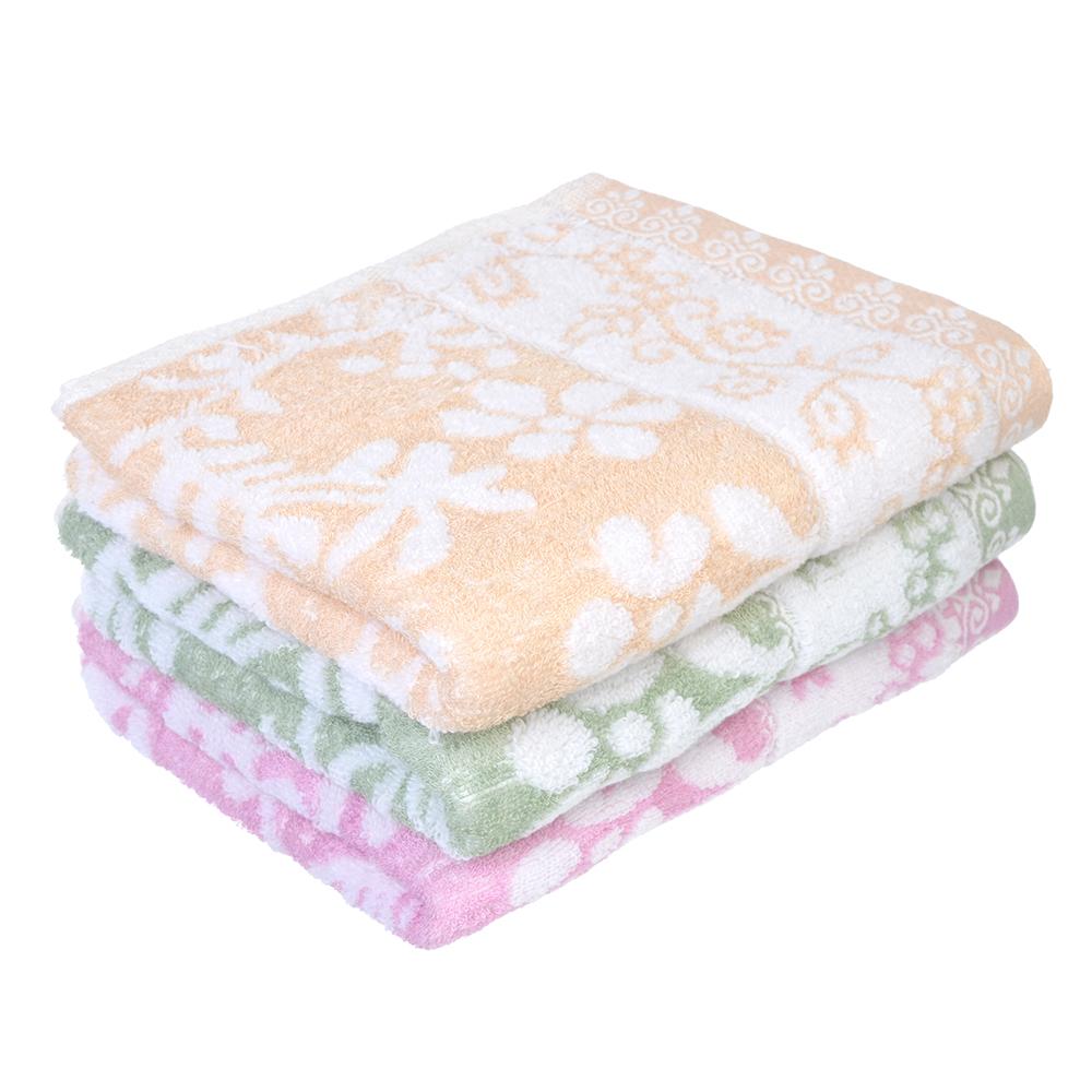"""Полотенце банное махровое, 50% бамбук 50% хлопок, 70х140см, 3 цвета, """"Цветущие веточки"""""""