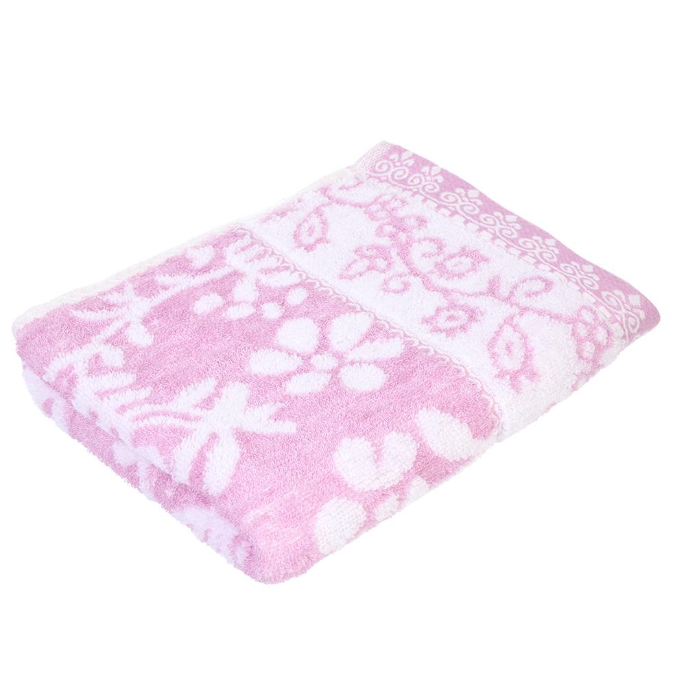 """Полотенце для лица махровое,50% бамбук 50% хлопок,  40х90см, 3 цвета, """"Цветы"""""""