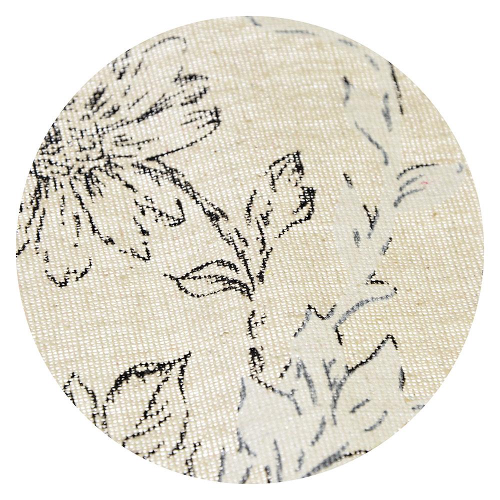 Скатерть на стол льняная с кружевом, полиэстер, 150х230см