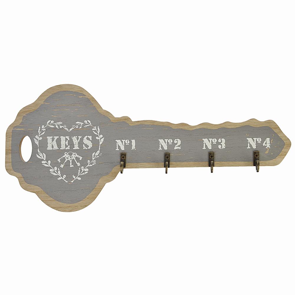 Ключница открытого типа, на 4 крючка, МДФ, 35,3х15,7см, 4 цвета