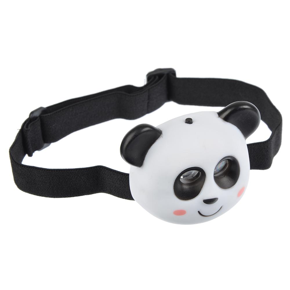 Фонарь налобный детский Панда 2 ярк. LED, 3xAAA, 7х6х3.5см
