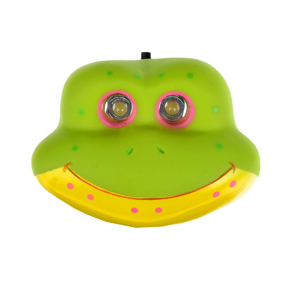 Фонарь налобный детский Лягушка 2 ярк. LED, 3xAAA, 7х6х3.5см