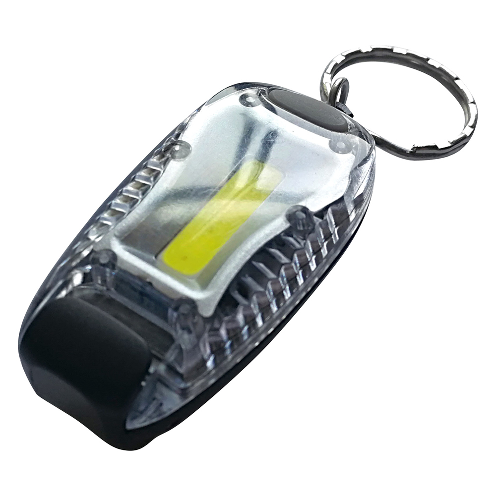 ЧИНГИСХАН Фонарик-брелок с клипсой для крепл.на кепку,1Вт COB LED,2х2032(в ком.), 2,8х5,8см, 4цвета