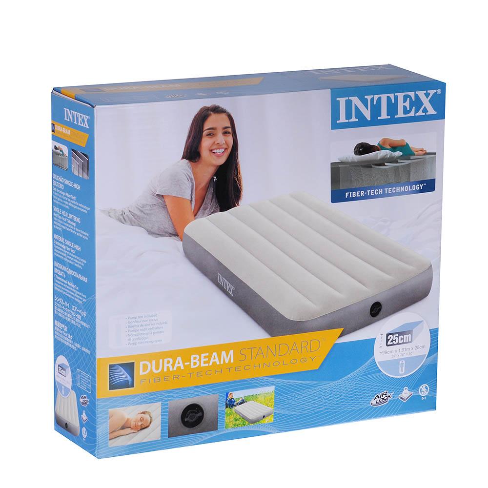 INTEX Кровать надувная TWIN DELUXE SINGLE-HIGH, 99х191х25см, 64101