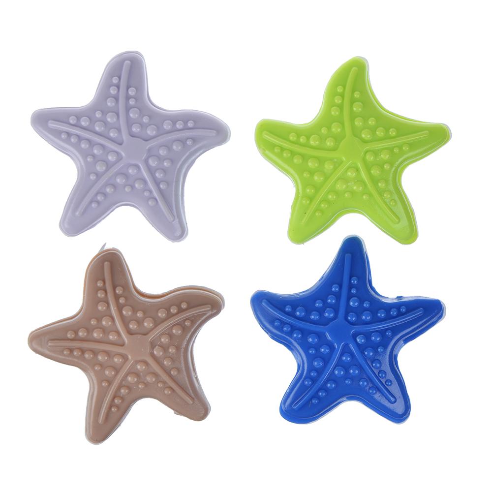 Защита для мебели универсальная 4 шт., силикон, 4,5х4,5x0,8см, 4 цвета, Звезда