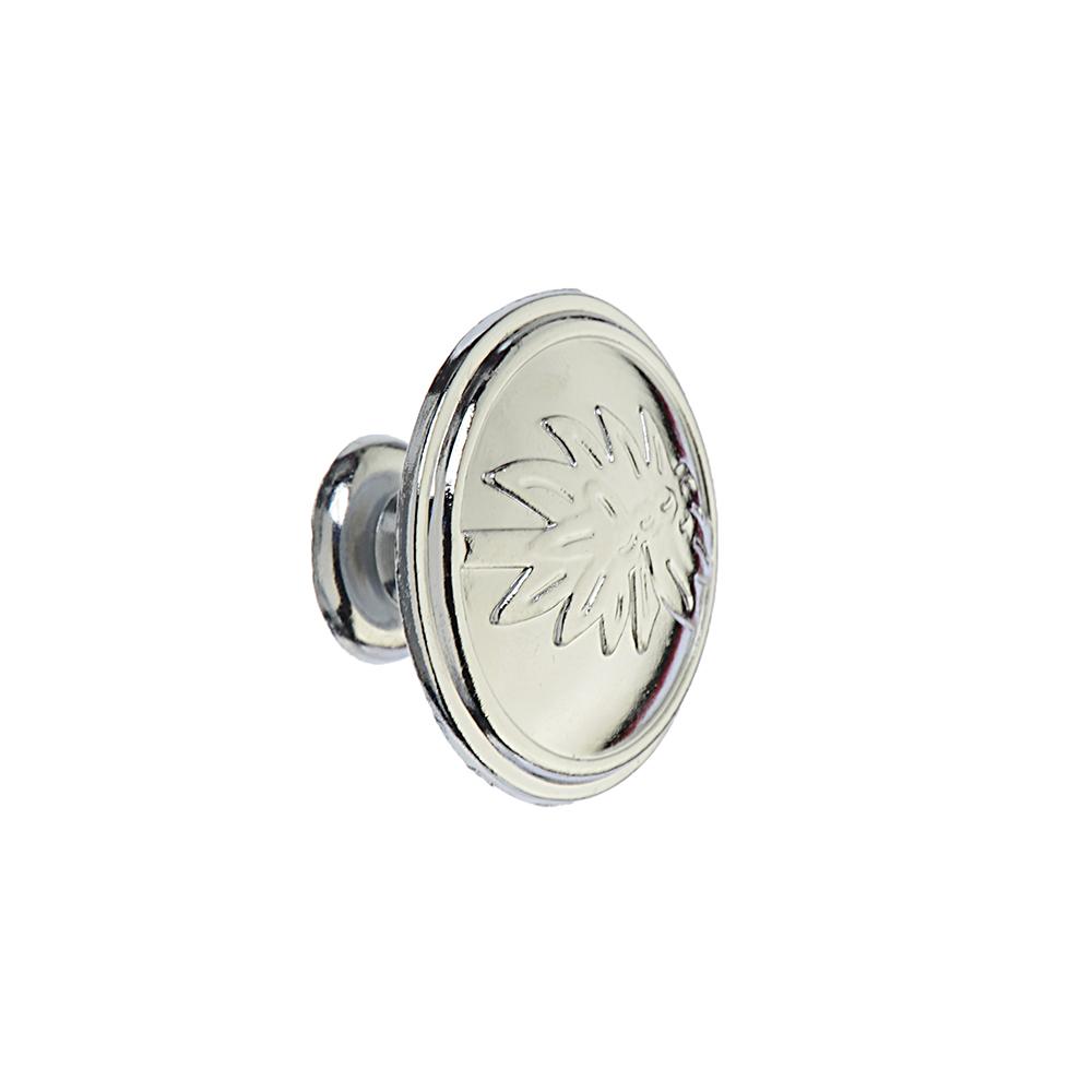 Ручка мебельная кнопка К-01(CP) хром