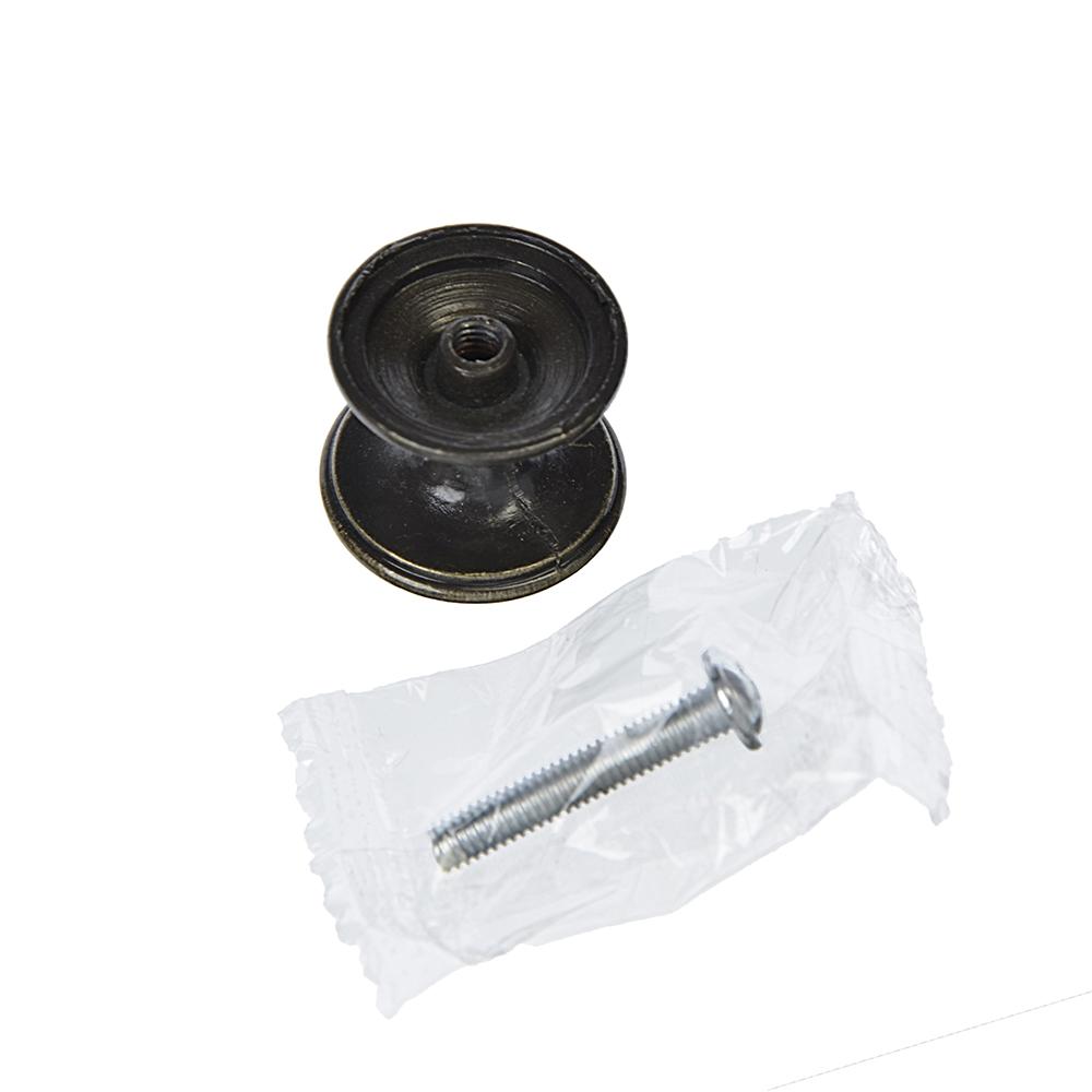 Ручка мебельная кнопка К-05(AB) бронза
