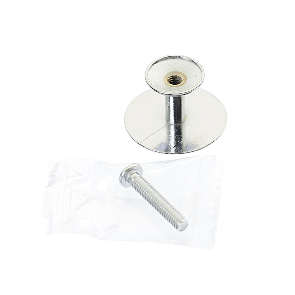 Ручка мебельная кнопка К-06(СР) хром