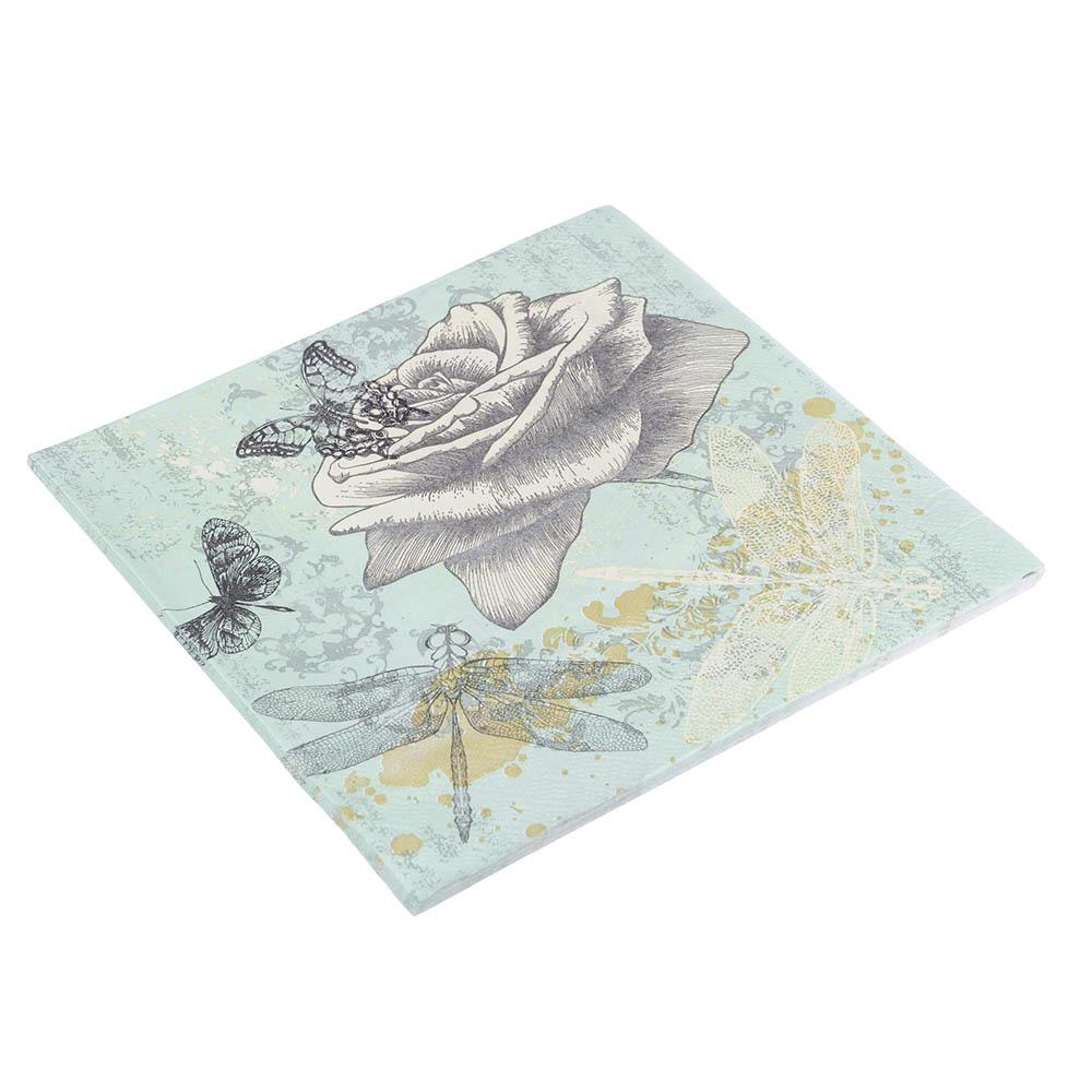 Салфетки бумажные двухслойные 10 шт, 33x33 см, 3 дизайна