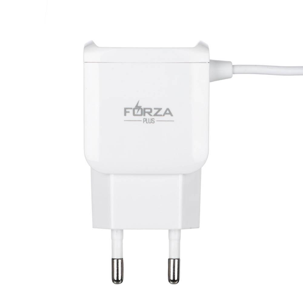 FORZA Зарядное устройство Micro Usb, 2 USB, 220 В, 1A, 1 м, пластик