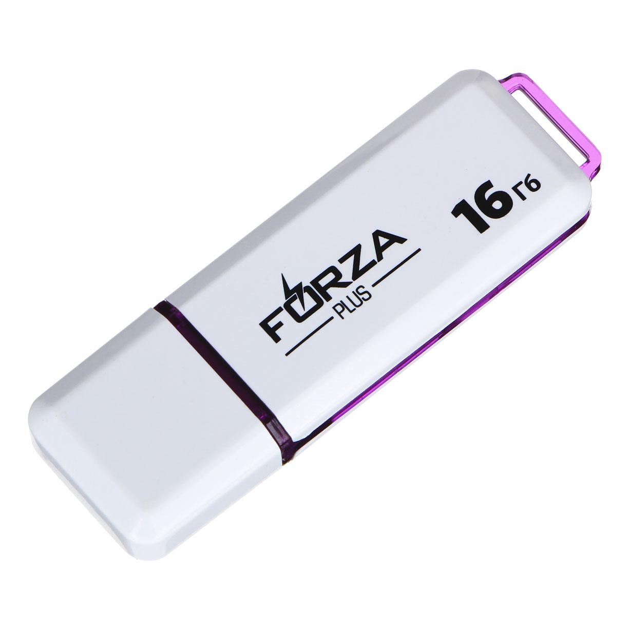 FORZA Флеш-карта, 16 гб, 6 класс, блистер, пластик, цвет белый