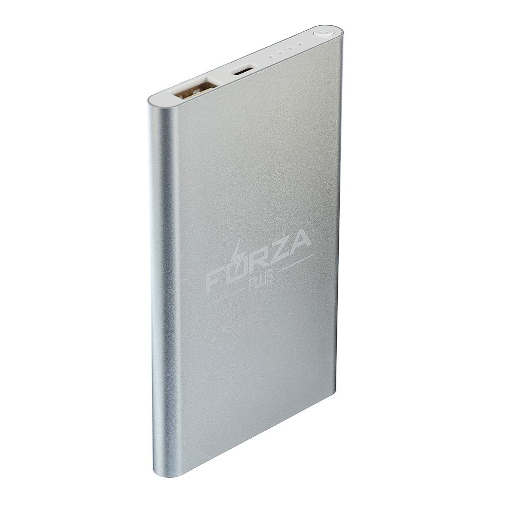 FORZA Аккумулятор мобильный, тонкий, 3000 мАч, 5V.1A, Micro USB, металл, 2 цвета
