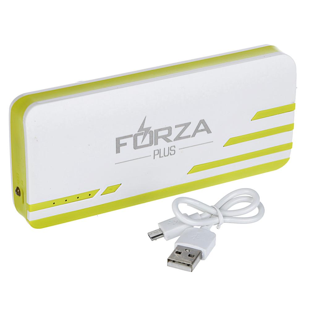Аккумулятор мобильный FORZA 6000-8000 мАч, 1А, 3 USB, фонарик