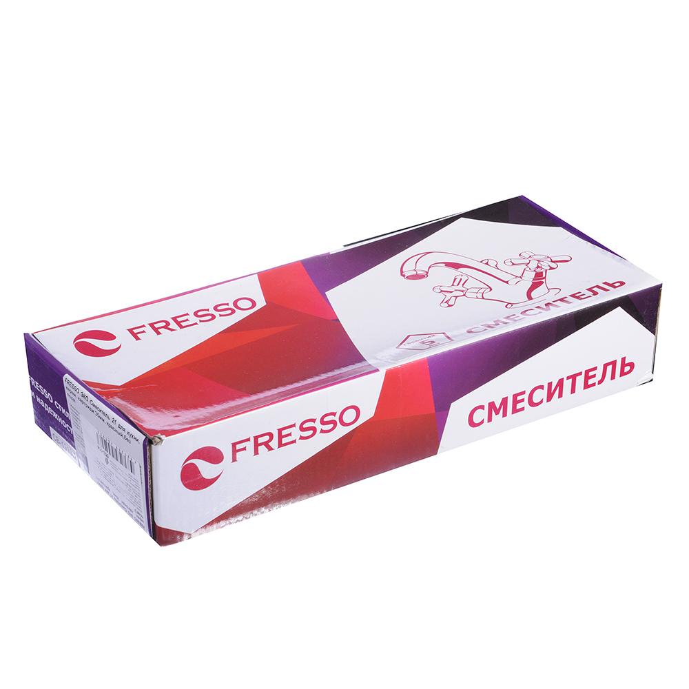 FRESSO ЭКО Смеситель 21 для кухни, керам. картридж 35мм, красный,без подв D