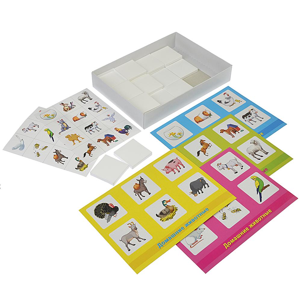 РЫЖИЙ КОТ Лото пластиковое, 24 фишки, пластик, бумага, 19х14х3см, 4-6 дизайнов, ИН-6010