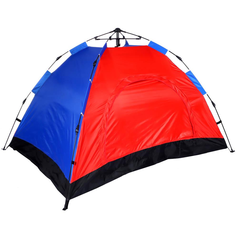 ЧИНГИСХАН Палатка 2-мест, Автомат, 200х145х125см, нейлон 170T, дно оксфорд 150D