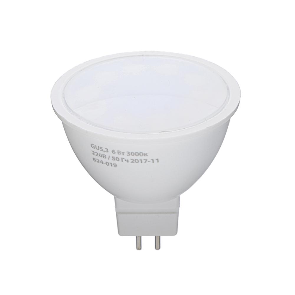 ЕРМАК Лампа светодиодная спот GU5,3, 6 Вт, 220 В, 3000К, теплый свет