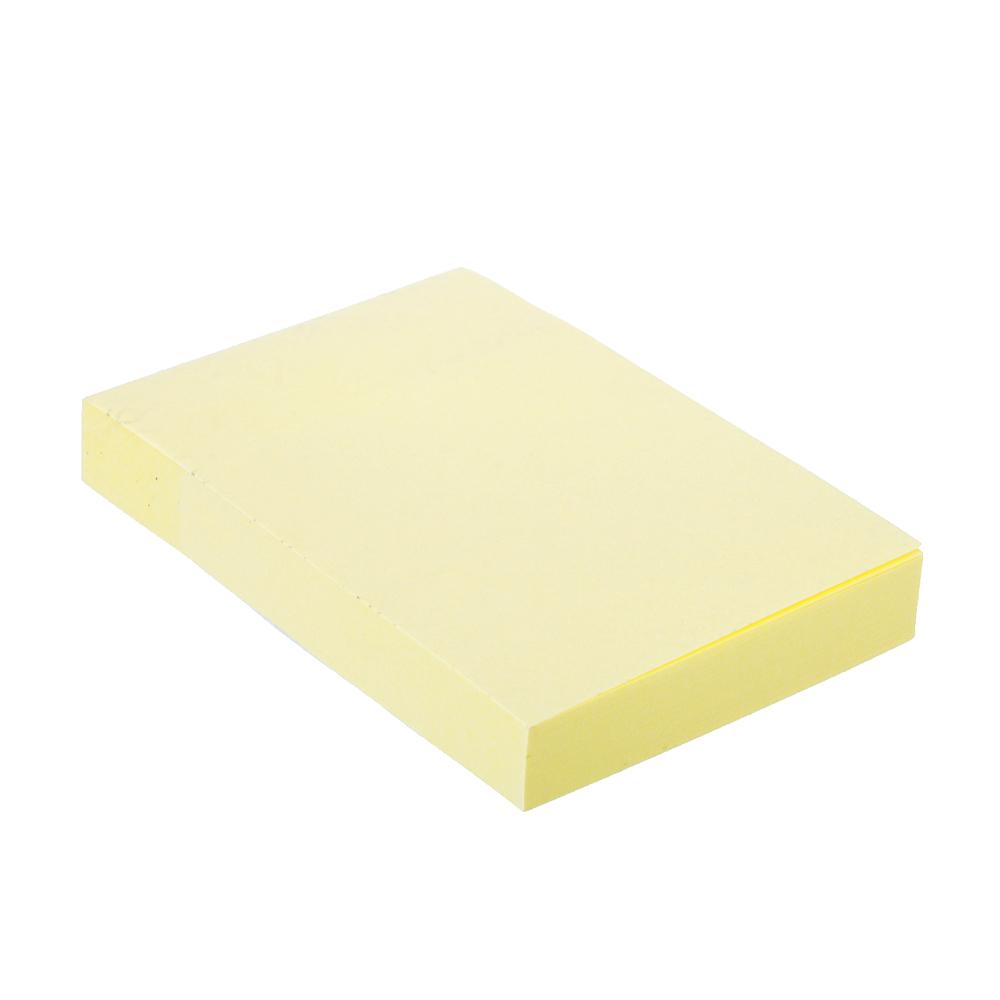Блок для записей с клеевым краем, 51x76мм, 100 листов, желтый, ClipStudio