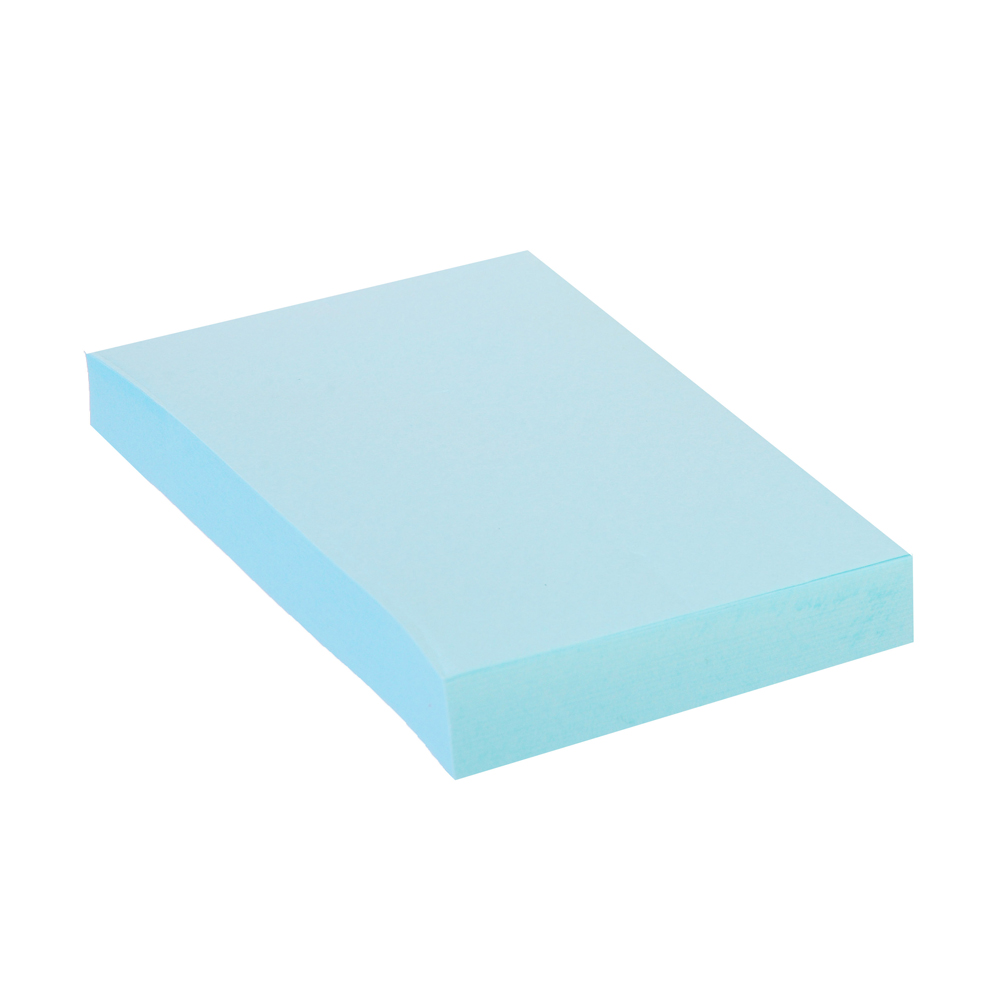Блок для записей с клеевым краем, 51x76мм, 100 листов, голубой, ClipStudio