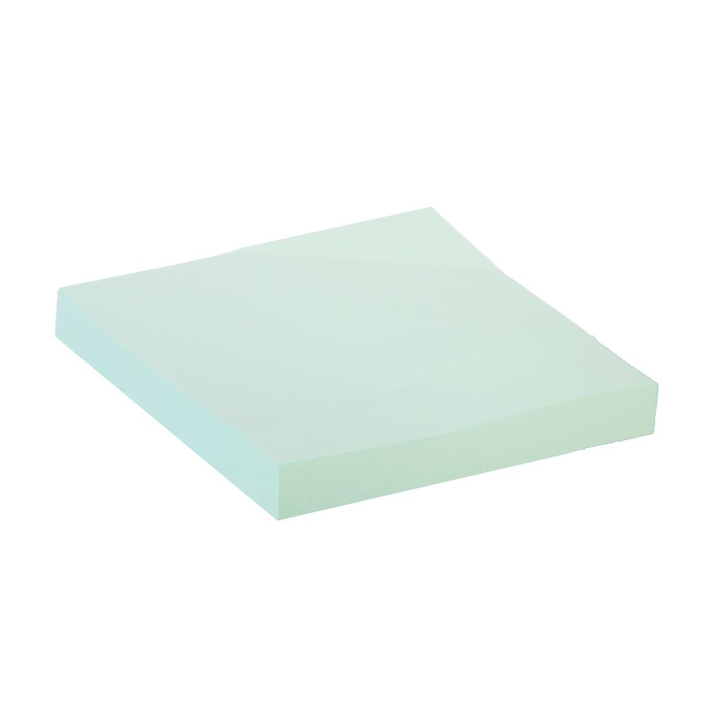 Блок для записей с клеевым краем, 76x76мм, 100 листов, зеленый, ClipStudio
