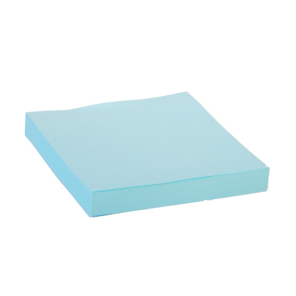 Блок для записей с клеевым краем, 76x76мм, 100 листов, голубой, ClipStudio