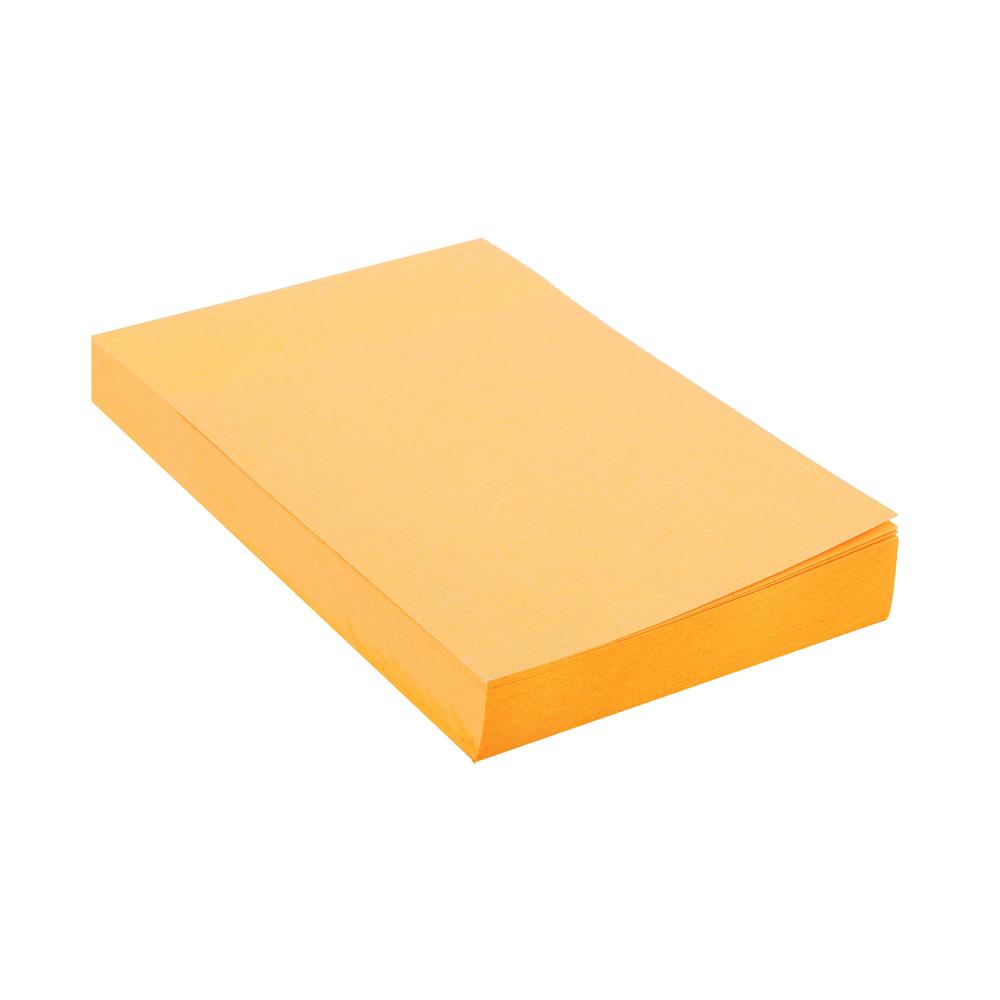 Блок с клеевым краем неоновый 51x76мм, 100 листов, оранжевый, ClipStudio