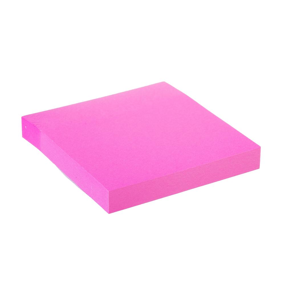 Блок с клеевым краем неоновый 76x76мм, 100 листов, ассорти, ClipStudio