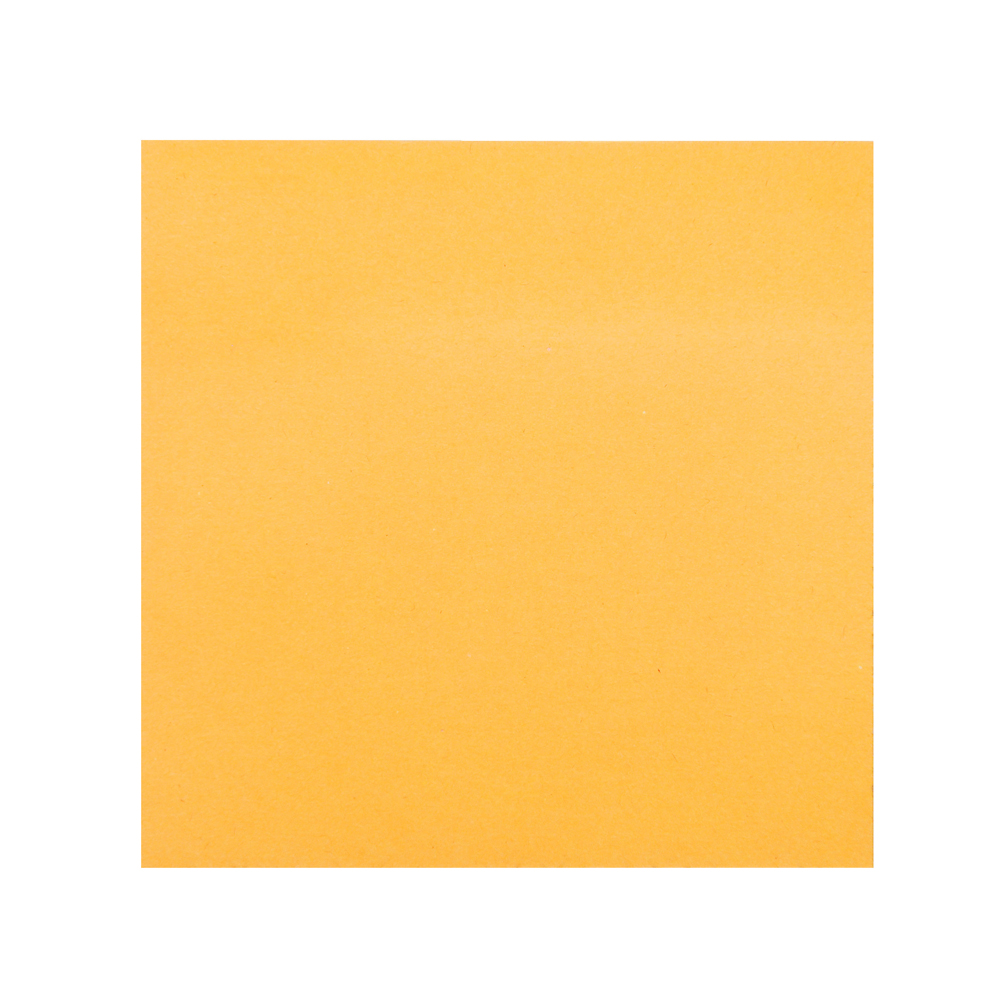 Блок с клеевым краем неоновый 76x76мм, 100 листов, оранжевый, ClipStudio