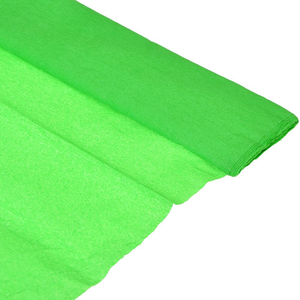 Гофрированная цветная бумага зеленая в рулоне 50х200 см