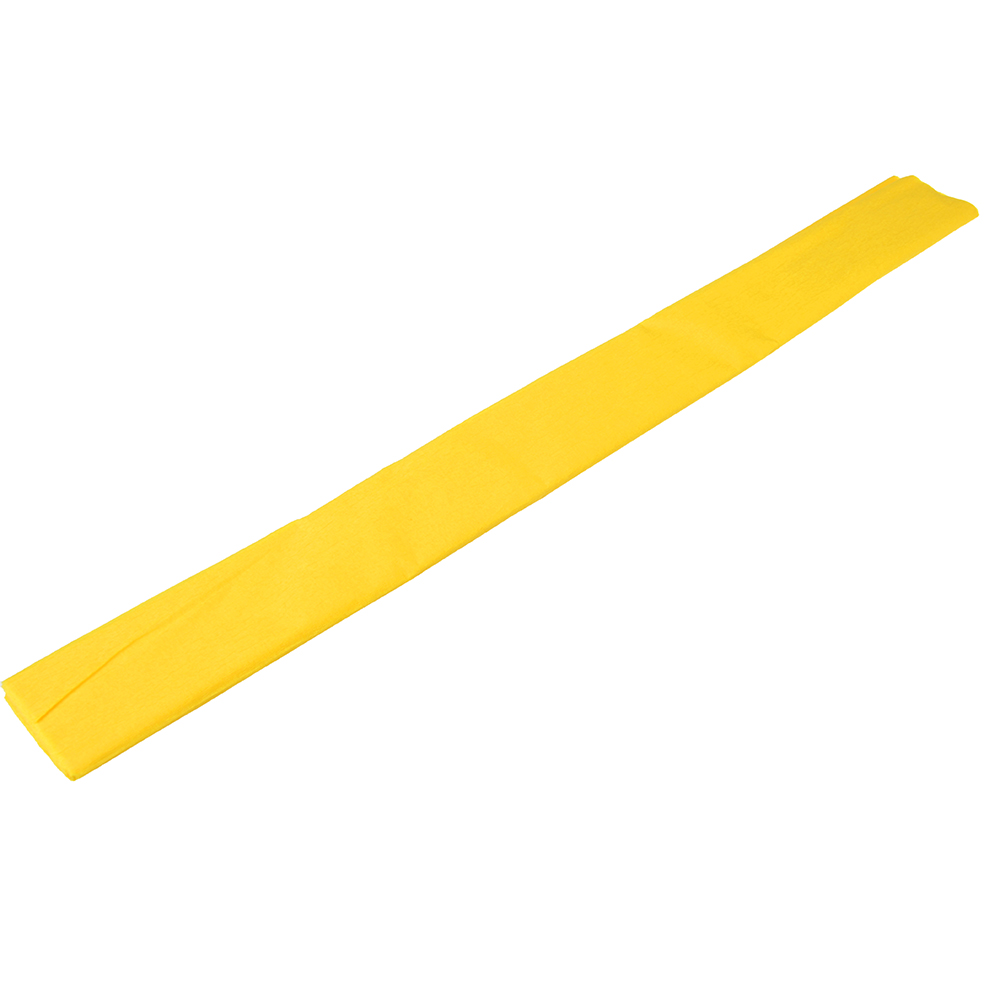 Гофрированная цветная бумага желтая в рулоне 50х200 см