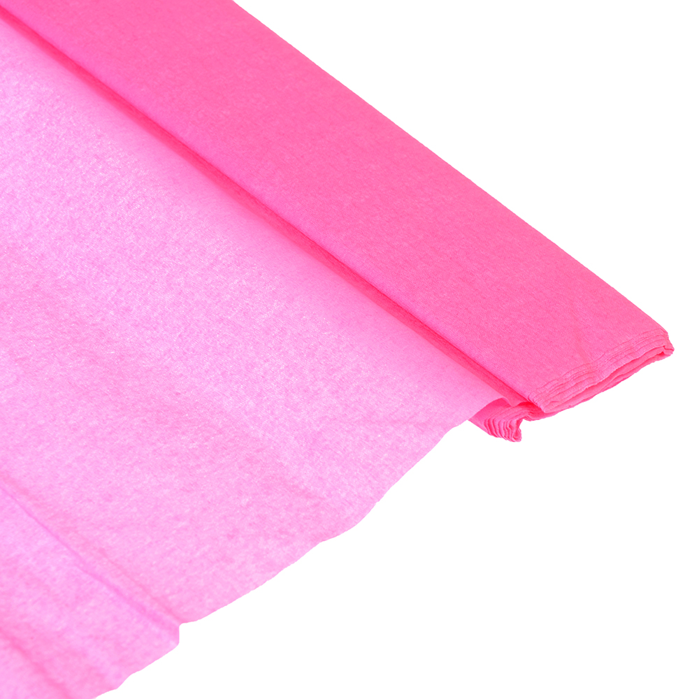 Гофрированная цветная бумага розовая в рулоне 50х200 см
