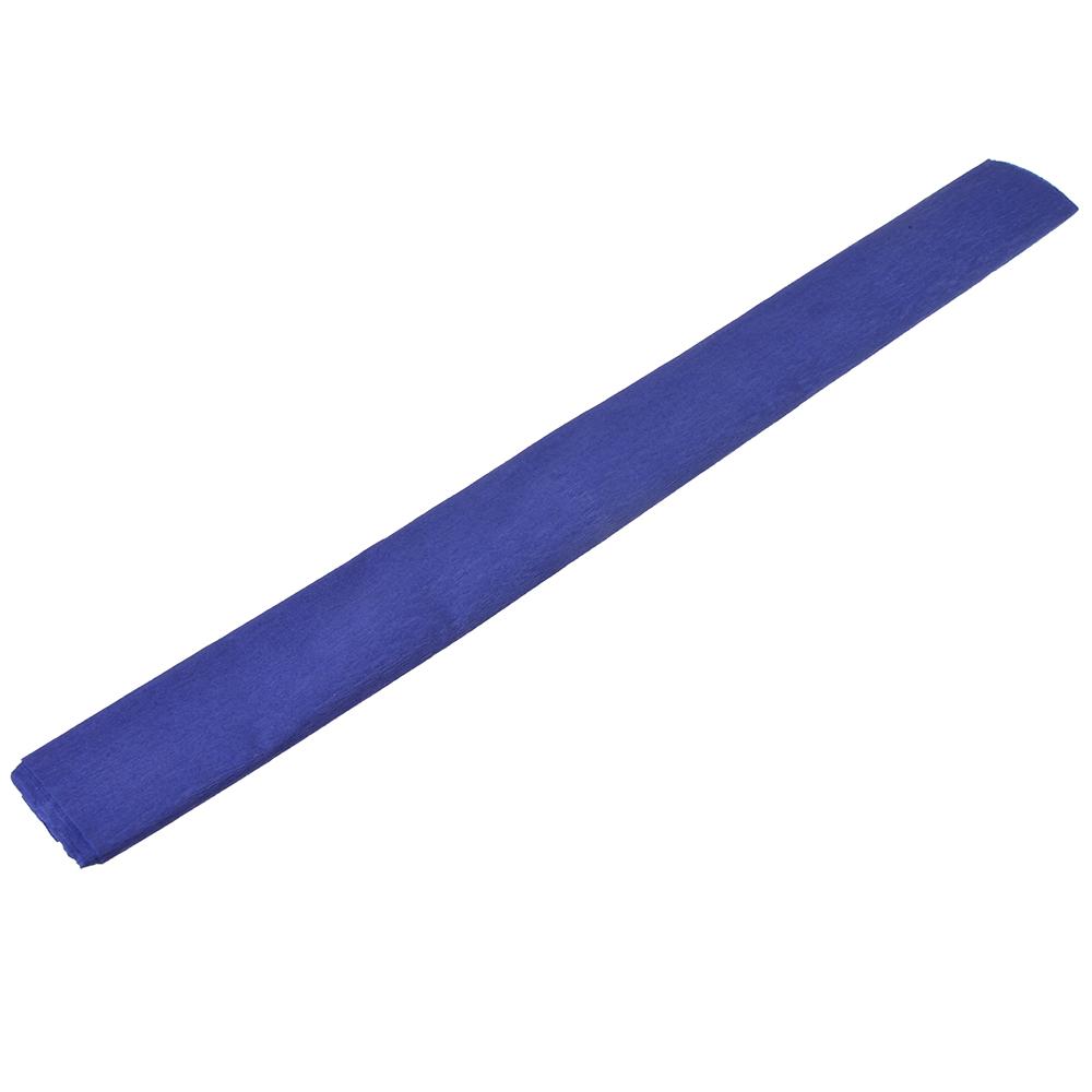 Гофрированная цветная бумага фиолетовая в рулоне 50х200 см