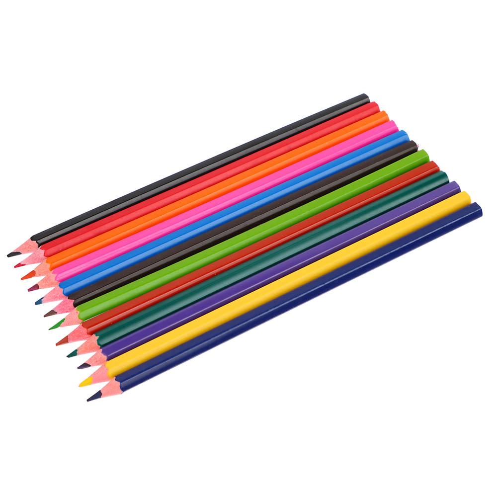 Набор цветных карандашей, 12 цветов, заточенные, пластик, ClipStudio