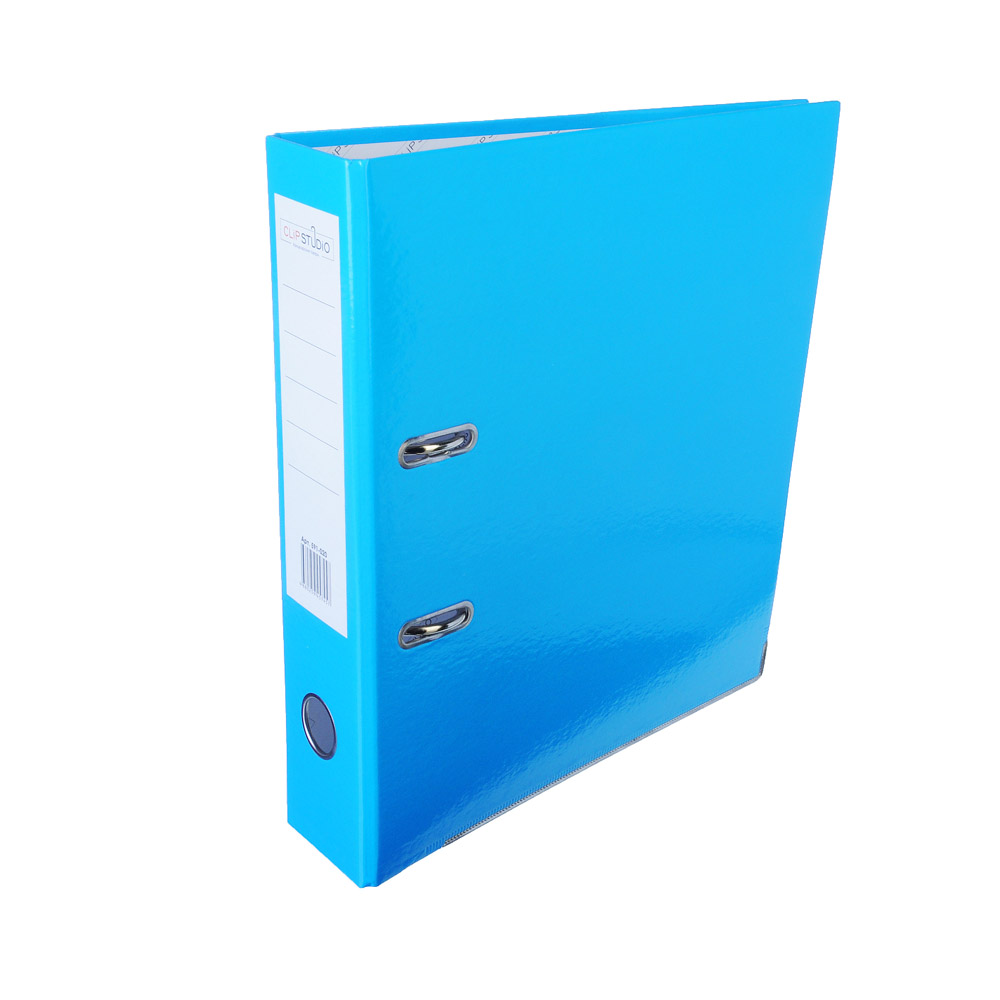 ClipStudio Папка с арочным механизмом A4 корешок 7,5см ламинированная, с мет.окантовкой, голубая