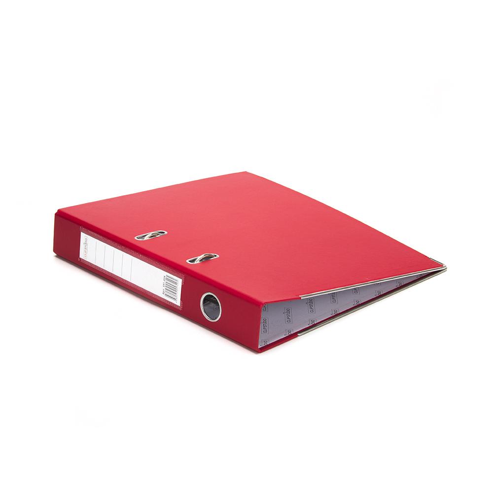Папка с арочным механизмом A4 красная, корешок 5 см РР, с металлической окантовкой, ClipStudio