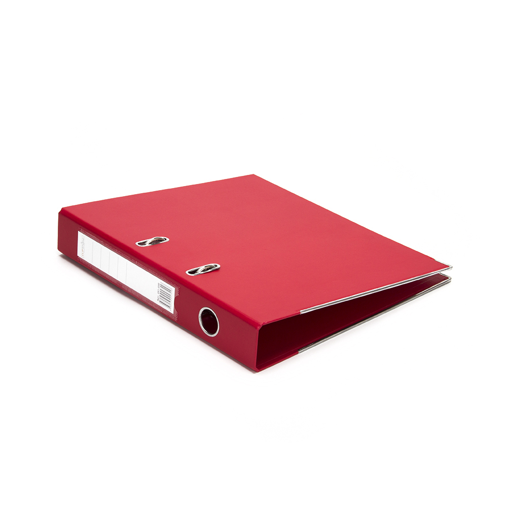 ClipStudio Папка с арочным механизмом A4 корешок 5см двойной PP, с мет.окантовкой, красная