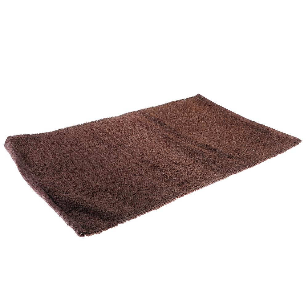Коврик для ванной Велюр 50х80см, хлопок, б/п, коричневый