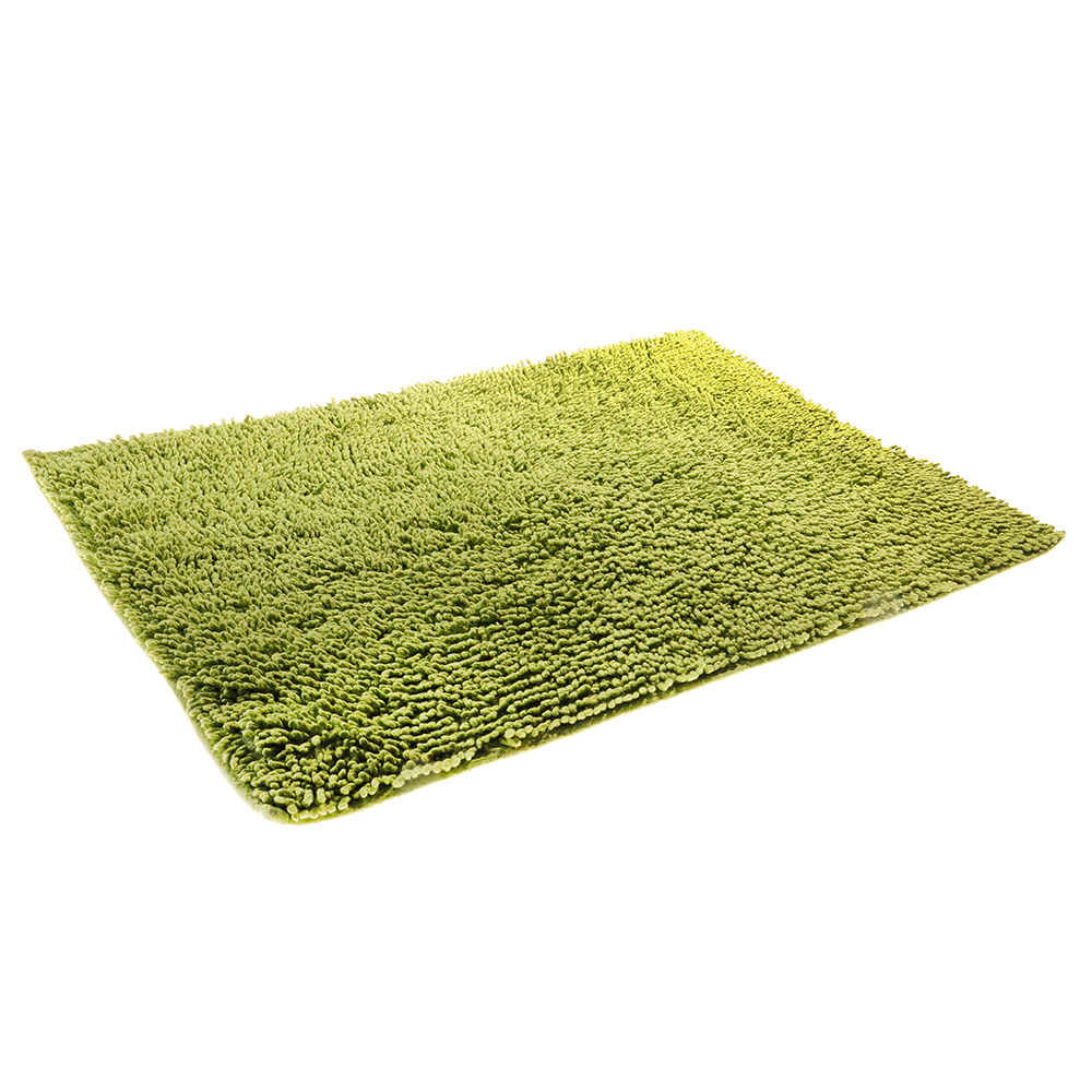 Коврик для ванной Петля 50х70см, хлопок, б/п, зеленый