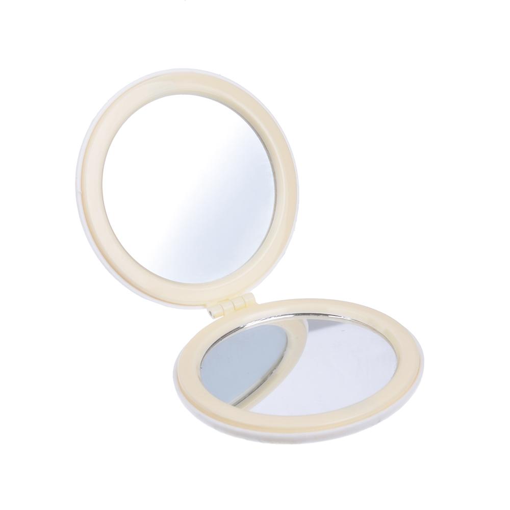 Карманное зеркало, круглое d. 6,5 см, пластик, стекло, 4 дизайна