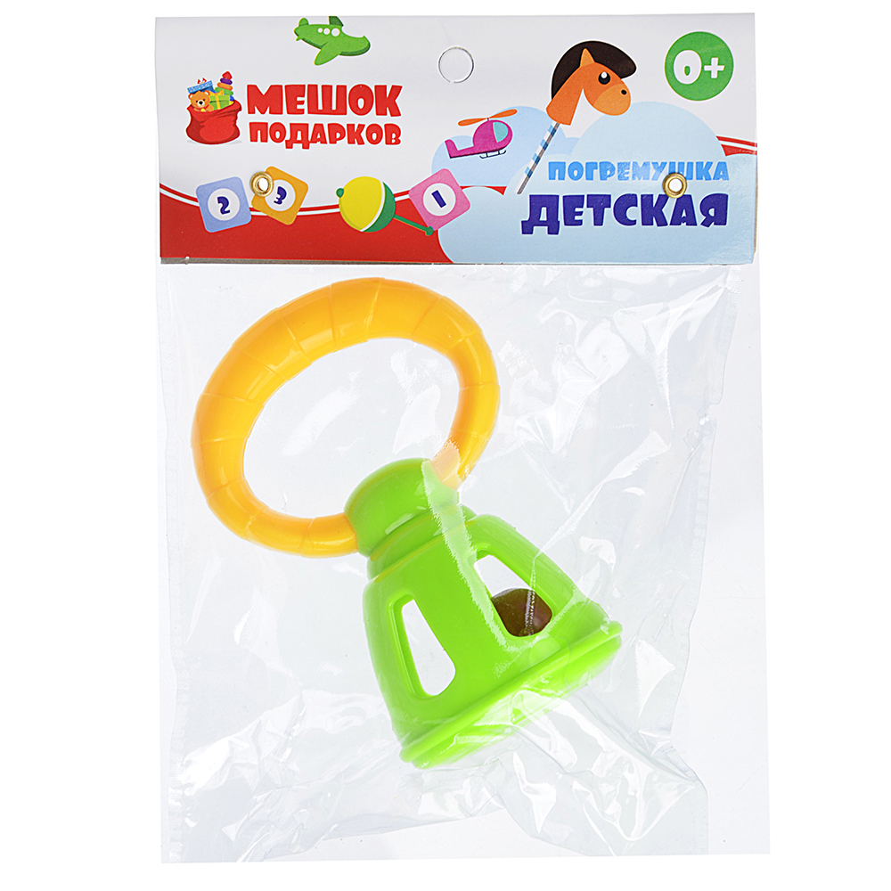 МЕШОК ПОДАРКОВ Погремушка детская, ПВХ, 10х6х5см, 6 дизайнов