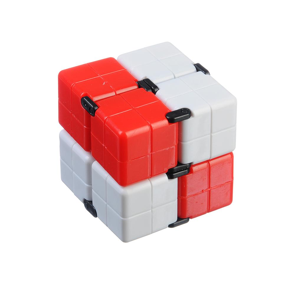 """Игрушка-антистресс """"Кубик-Бесконечность 360 градусов"""", пластик, 8х4х2см, 3-4 цвета"""