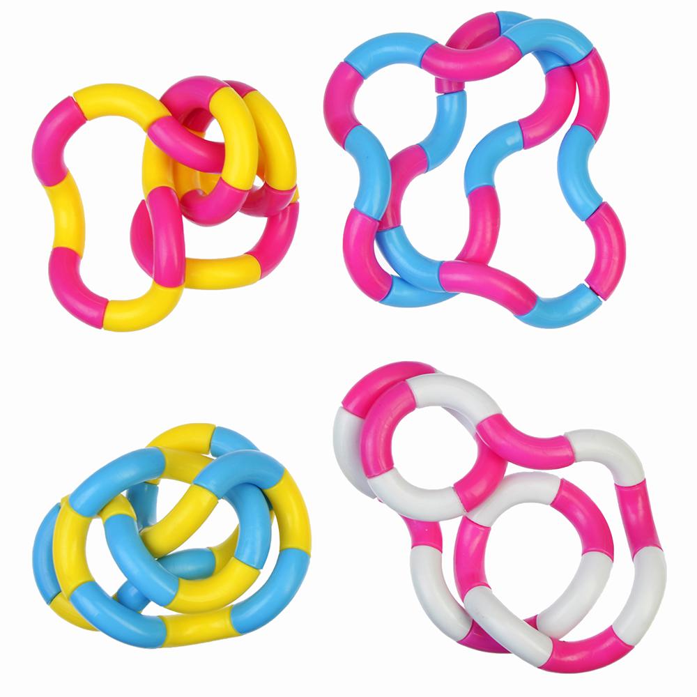 "Игрушка антистресс ""Змейка"", пластик, 15см, 4 цвета"