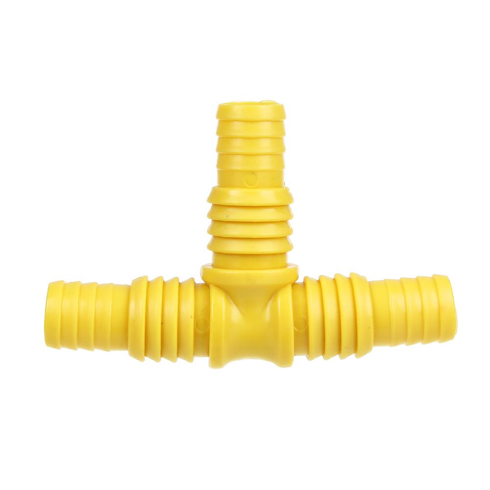 """Тройник-штуцер для шланга, пластмасса, 3/4""""- 1"""""""