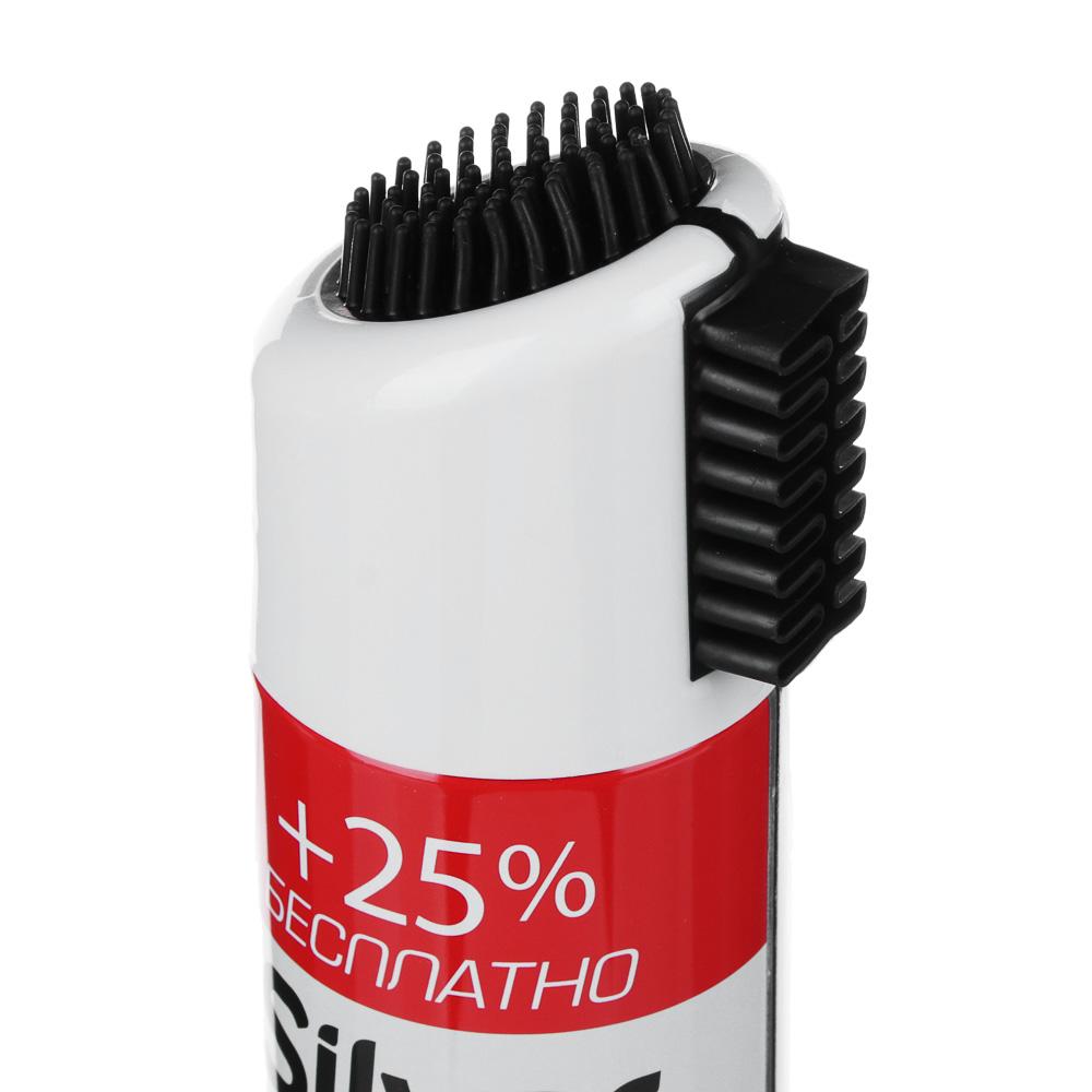 SILVER Спрей краска-восстановитель д/нубука и замши 3в1 с кауч. щётками 250мл,чёрный, SB3502-01/2502