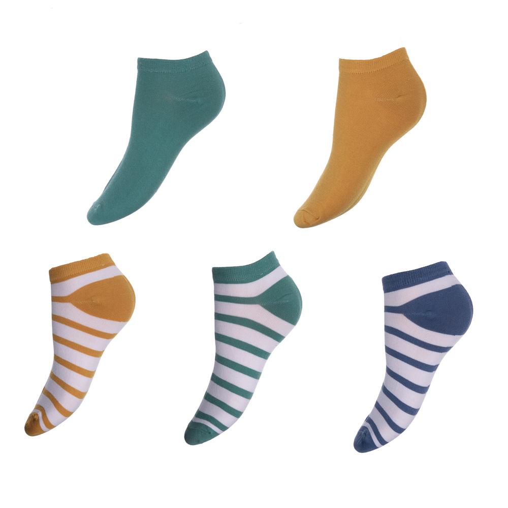 Носки женские, 80% хлопок, 15% полиамид, 5% спандекс, р-р 23-25, 4-6 цветов